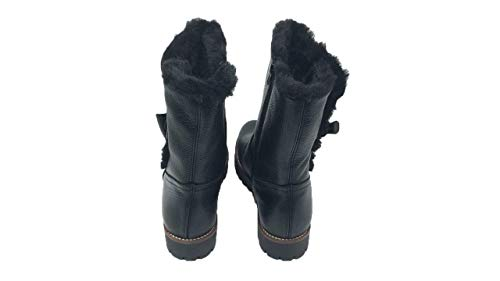 Textile Nival Doublure Bottines Noir Femme Cuir Bottes xqa0w4