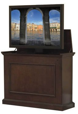 """Touchstone 72008 Elevate TV Lift Cabinet – 45""""-Wide Television Stand Wood – Espresso (Cabinet Hide Tv)"""