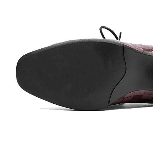 Femmes Zpedy Décontracté Automne Confortable Lightbrown Élégant Chaussures Pour Dentelle pqqgS