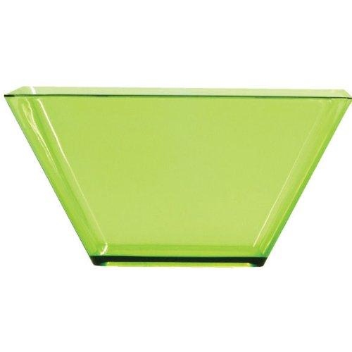 Bowl Green Square (Creative Converting 8 Count 3.5-Inch Square Plastic Bowls, Mini, Translucent Green)