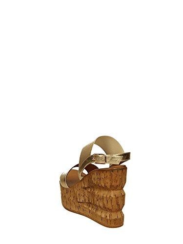 Inuovo 7394 Sandalia de Cuña Mujer Oro