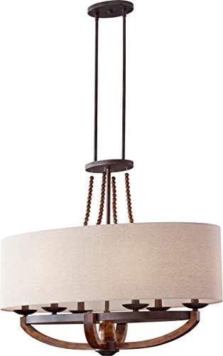 Feiss F2751 6RI BWD Adan Candle Chandelier Lighting, Iron, 6-Light 18 W x 30 H 360watts