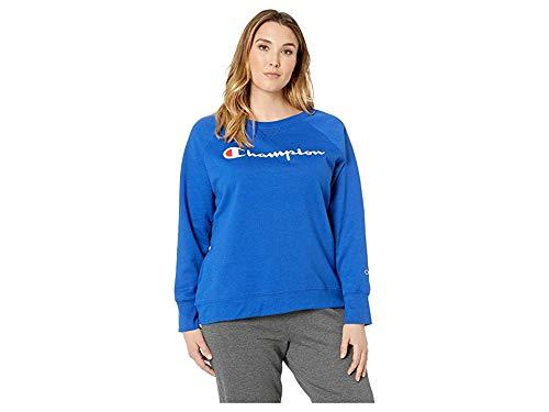 Champion Women's Plus Size Fleece Crew Sweatshirt Sweater, surf The Web, 2X