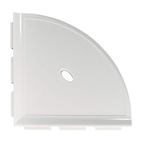 Questech 8 inch Metro Bathroom Corner Shower Shelf | Polished Off White (Ceramic Tile Corner Bathroom Wall Shower Shelf)