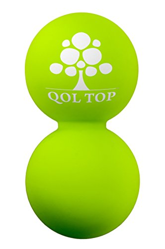 QOL TOP -Double Lacrosse Massage Balls- Suited for Myofascial Release and Self-yoga Using Trigger Point and Deep