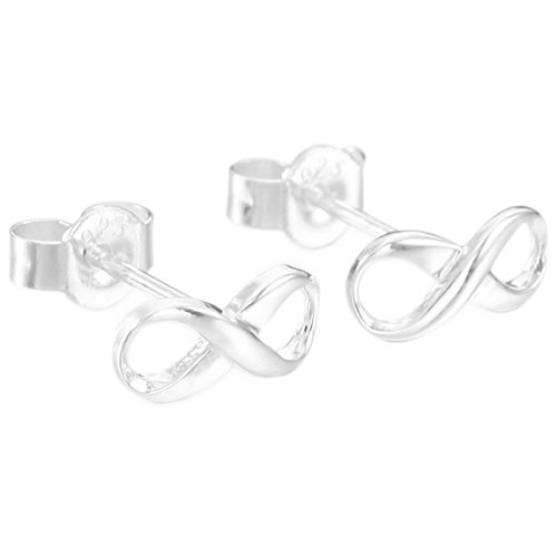 INBLUE Womens Sterling Earrings Infinity