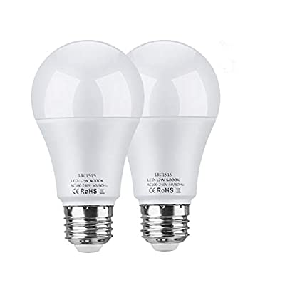 LEKE 12W LED Night Light Dusk to Dawn Light Sensor Bulb 100W Equivalent Incandescent Light Auto On Off for Home, Front Porch Light, Yard Light, Garage Sensor Light(2 Pack)