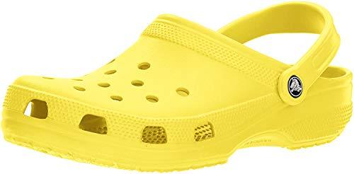 Crocs Women's Classic Clog|Comfortable Slip On Casual Water Shoe, Lemon, 8 M US Women / 6 M US Men (Cute Outfits To Wear To The Beach)