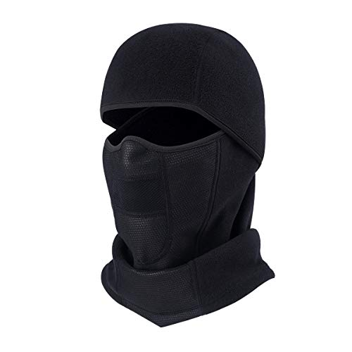 TRIWONDER Balaclava Ski Mask Fleece Face Mask Cover Neck Warmer Windproof Hood Winter Cold Weather Helmet Liner Skull Cap Beanie Hat Ear Warmer Headband (Outdoor - Fleece Velcro Balaclava