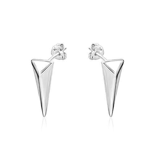 (River Island Sterling Silver Triangle Shape Stud Earrings)
