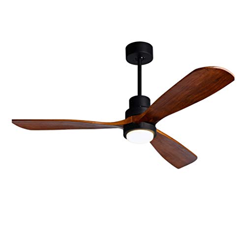 Modern Silent Fan Light Nordic Reversible Fan Light Modern Minimalist Living Room Dining Room Ceiling Fan Light Children Bedroom Timing Chandelier Stable (Color : Brown, Size : 122cm55cm) ()