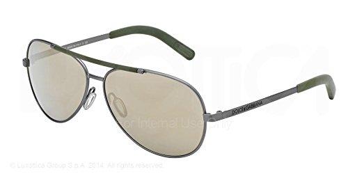 Dolce & Gabbana DG2141 Sunglass-11086G Gun (Brown Mirror Gold - Sunglasses Mens Dolce Gabbana And 2014