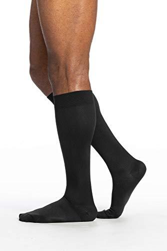 SIGVARIS Men's Style Microfiber 820 Closed Toe Calf-High Socks 15-20mmHg