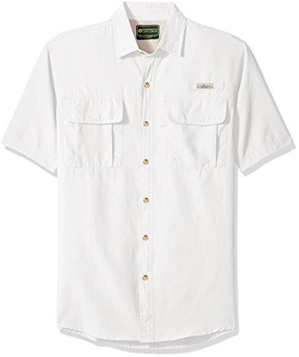 G.H. Bass & Co. Men's Explorer Point Collar Short Sleeve Fishing Shirt, Large, Deep Bright - D&g Top