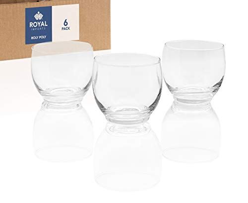 (Royal Imports Candle Holder Glass Votive for Wedding, Birthday, Holiday & Home Decoration, Roly Poly, Set of 6 - Unfilled)
