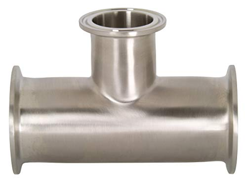 Dixon B7RMP-G300150 Stainless Steel 304 Sanitary Fitting, Reducing Clamp Tee, 3