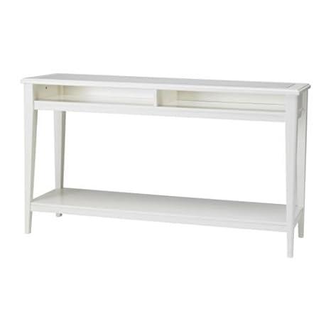 Consolle Vetro Ikea.Ikea Liatorp Consolle In Vetro Bianco 133 X 37 Cm
