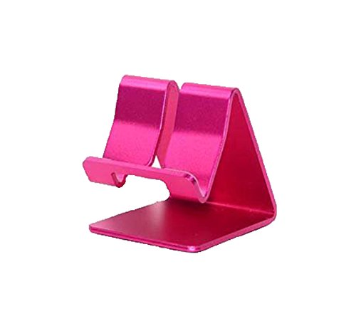 Hot Pink Cell Phone - ADS Amtopsell Aluminum Metal Stand Holder Stander for iPad iPhone Mobile Phone Smart Tab Y365 (Hot Pink)