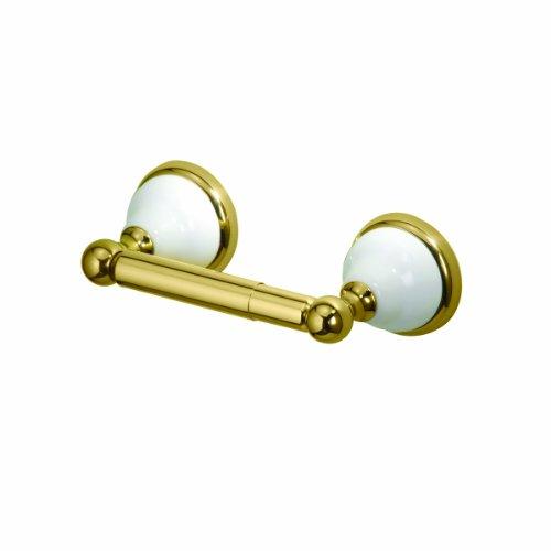 Gatco 5273 Franciscan Toilet Tissue Holder, Polished Brass