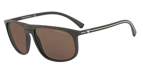 Emporio Armani 0EA4118, Gafas de Sol para Hombre, Mud Rubber ...