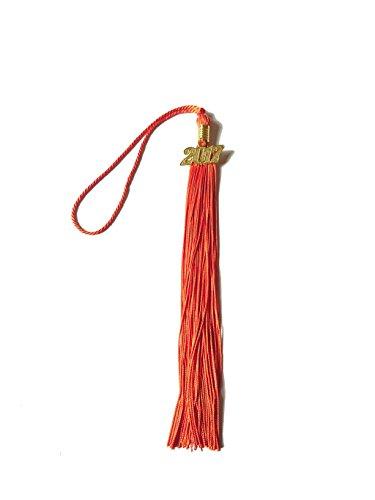 Tassel Orange (Graduation Tassel With 2018 Year Charm Grad Days(Orange))