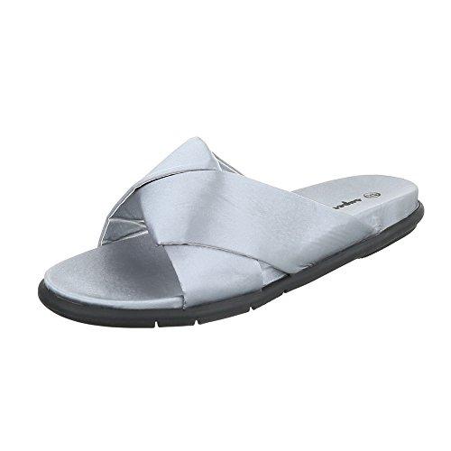 Ital-Design - zapatillas de baile (jazz y contemporáneo) Mujer gris claro