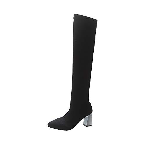 Vouchers Chaussettes Genou Warm Élastiques Femme Hiver Automne 2018 Pour Nouveau Sur Noir Femmes Keep Coupon Chaussure Pointues Chic Le Martin wz40PxTnn