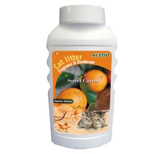Alzoo Cat Litter Deodorizer - Sweet Citrus