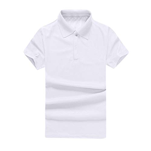 - Big Sale! Fastbot Men's T-Shirt Fashion Simple Solid Color Polo Shirt Business Casual Shirt Multi-Color S-3XL White