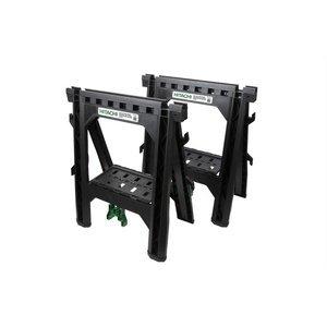 Hitachi 115445 Folding Sawhorses, Heavy Duty Stand, 4...