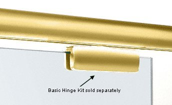 - CRL Brass Madrid Series Header Mount Kit - 98 in long