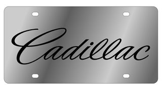 Eurosport Daytona 1202-1 Stainless Steel Cadillac License Plate