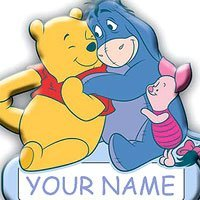 SandyLion Winnie The Pooh Door Name Plate by Sandylion -