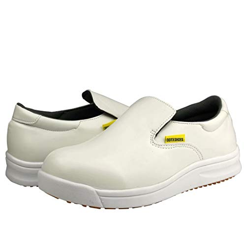 DDTX Work Kitchen Chef Shoes Unisex SRC Anti-Slip Oil and Water Resistant Lightweight White 13US