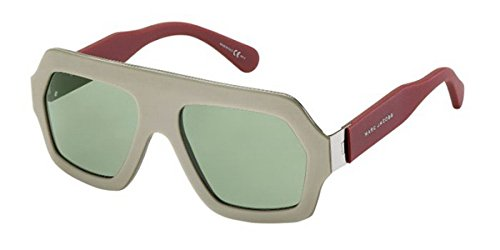 Marc Jacobs Men's Taupe, Bordeaux Frame/Grey Green Lens Non-Polarized Sunglasses 55 - Sunglasses Green Jacobs Marc