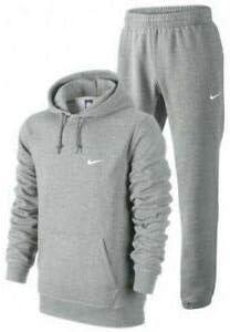 Nike - Chándal clásico con capucha para hombre (forro polar) Gris gris M: Amazon.es: Deportes y aire libre