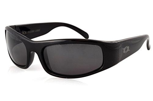 Clear Lake Manatee Sport Polarized Sunglasses (Black, Smoked - Sunglasses That Block Glare