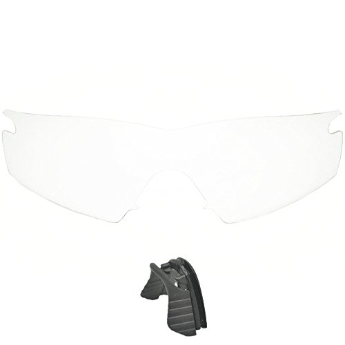 Inew clear Replacement Lenses For Oakley M Frame Strike with black nose - Lens Oakley M Clip Frame