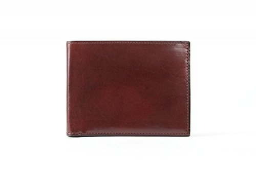Bosca Old Leather Bifold Wallet with Card / I.D. Flap (Dark Brown)
