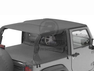 Bestop-Bikini-Top-Combo-for-Jeep-Wrangler-JK-2-Dr-2010-15-Includes-Bestop-Header-Safari-Bikini-52583-35-Windshield-Channel-51243-01