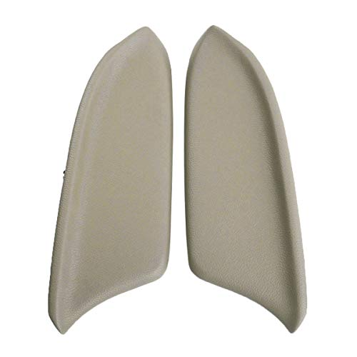 MOTOALL 1 Pair (Left & Right) Beige Auto Car Vinyl Leatherette Front Door Panels Armrest Lid Console Pad Handle Cover & Base Plate for 2008-2012 Honda Accord Sedan