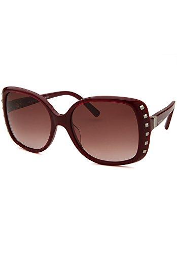 Valentino Metal Sunglasses (Valentino Valentino Women's Sunglasses V623s, Red, 56)