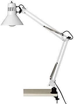 Brilliant Hobby 10802/05 - Lampara de escritorio Flexo con soporte de pinza, color blanco
