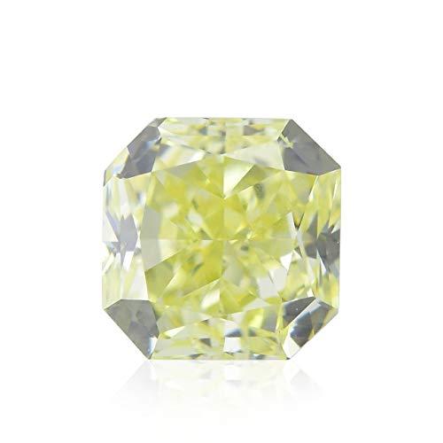 0.38 Carat Fancy Yellow Loose Diamond Natural Color Radiant Cut IGI Certificate