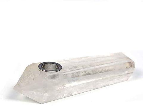 ホワイト隠されたスカルデザインパイプ、ポータブル六両面角形パイプ