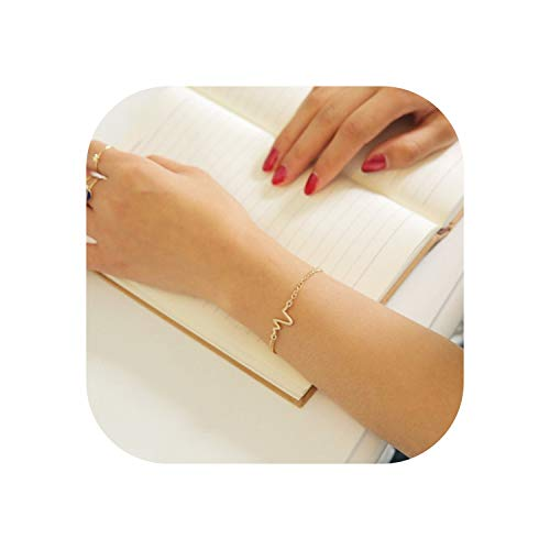 Punk Open Adjustable Arrow Cuff Bracelets for Women Fashion Simple Gothic Wrist Feather Bangles Gift Jewelry,LA245 Gold