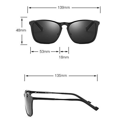 conducción Aluminio ZHAO Espejo polarizadas Black YING Gafas Film Black y Frame Film de Sol Gun Rack de magnesio Black nqwr80A1q