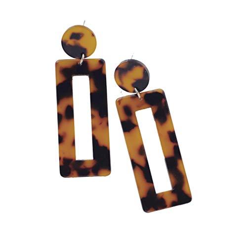 Shapes Studio The Lou Squared Tortoise Drop Earrings (Women Fashion Jewelry)