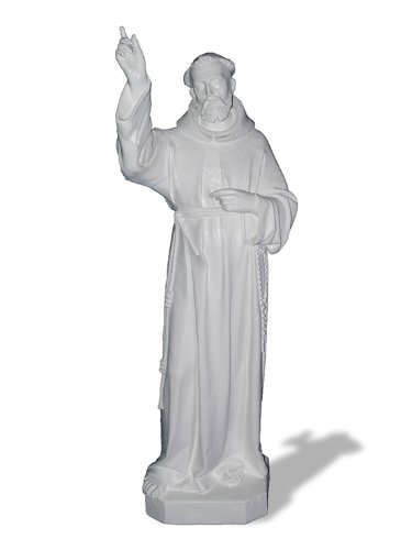Amedeo Design ResinStone 1100-45IPW St. Francis Xavier, 18 by 21 by 66-Inch, -
