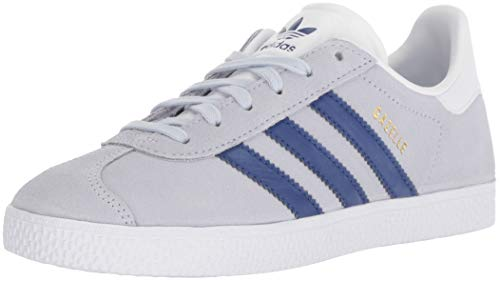 adidas Originals Unisex Gazelle Sneaker, aero Blue/Mystery Ink/White, 5 M US Big Kid